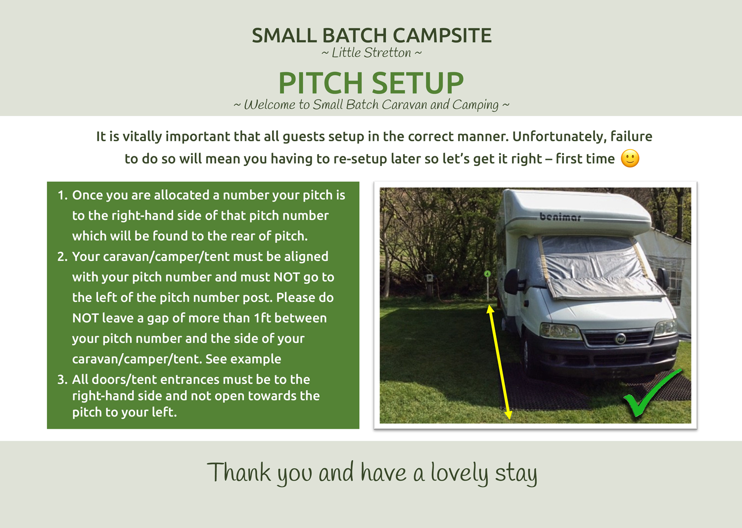 Pitch Setup